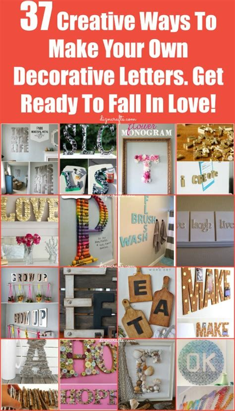 Letter Decoration Ideas Decorating With Letters And Words 37 Striking Tutorials Show You How To Make Your Own Diy