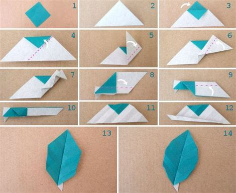 Origami Leaves - origami leaf veined or unveined nothing special but may