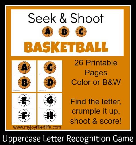 printable alphabet recognition games seek shoot abc basketball my joy filled life