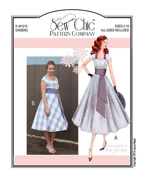 clothes pattern companies ginseng dress sewing pattern by sew chic pattern company