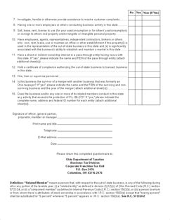 delaware franchise tax section form nexus quest nexus questionnaire for corporation