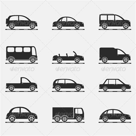 icon design cars 19 vehicle vector icon images vector vehicle graphics