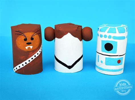 guerra de las galaxias manualidades de papel star wars crafts toilet roll characters