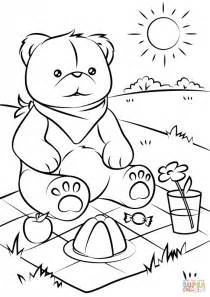 teddy bear picnic coloring pages coloring pages kids
