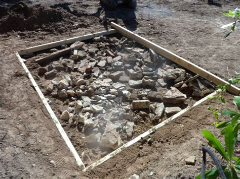 Laying A Base For A Shed by G G Garden Services Shed Base Gallery