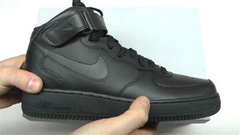 Terbaru Nike Airforce 1 Black 4 moveshop nike air 1 mid 07 315123 001 black