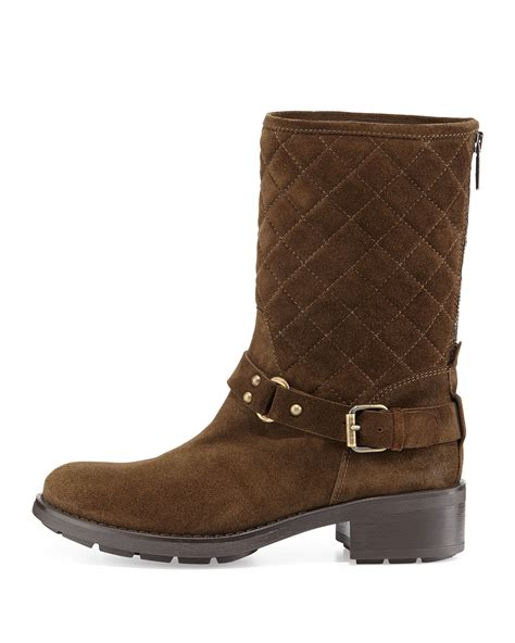moto boots aquatalia by marvin k sage quilted suede moto boot in