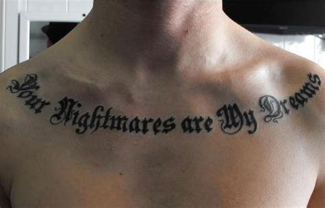 powerful words for tattoos 40 collar bone tattoos creativefan