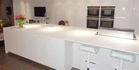 corian island corian island in glacier white installation in elstree