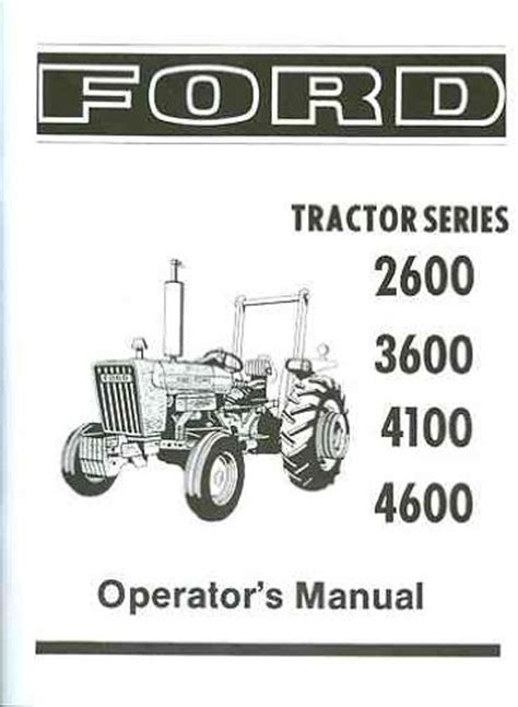 ford 4600 tractor parts diagram ford tractor 2600 3600 4100 4600 owners