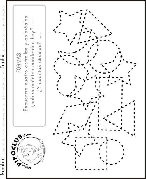 Figuras Geometricas Actividades Para Preescolar | actividades para preescolar para colorear numeros imagui