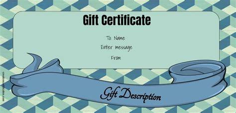 gift certificate template  designs customize