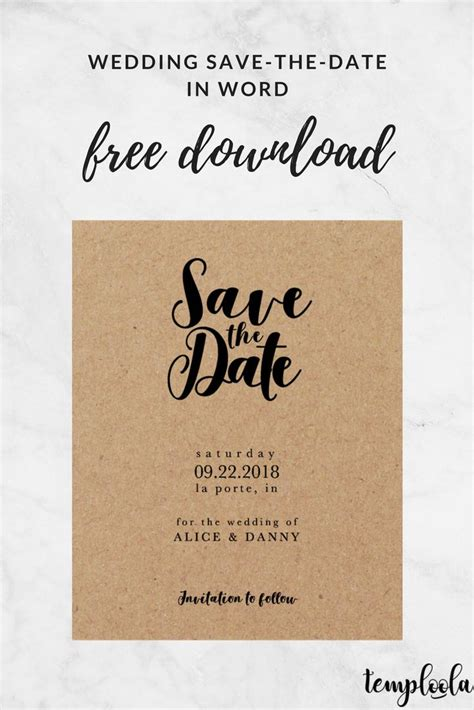 8 Best Wedding Save The Date Templates Images On Pinterest Wedding Save The Dates Bridal Save The Date Templates Free For Word