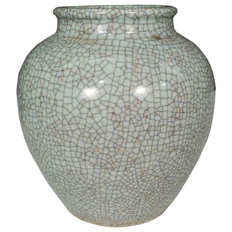 celadon crackle glazed jar at 1stdibs
