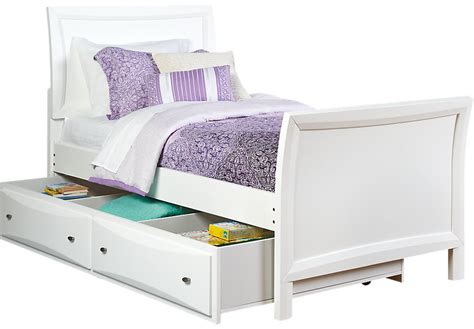 bed with trundle league white 4 pc sleigh bed w trundle trundle beds colors