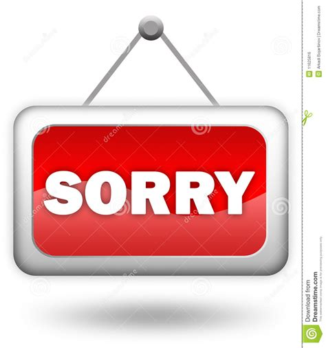 sorry sign royalty free stock image image 11625816
