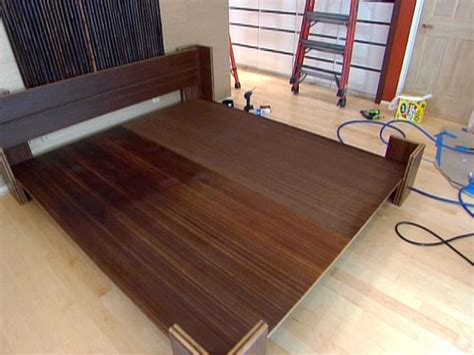 how to make bed frame how to build a bamboo platform bed hgtv