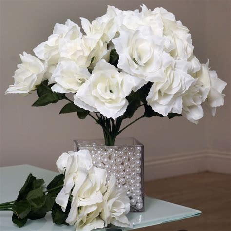 252 silk open roses wedding wholesale discounted flowers