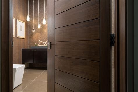 Modern Bathroom Door by Las Vegas Modern Home Interior Solid Wood Walnut Door