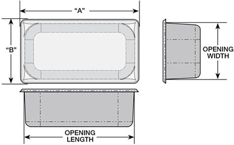 steam pan size chart super pan 174 flange and opening sizes