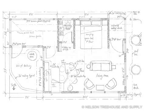 tree house floor plan treehouse masters floor plans