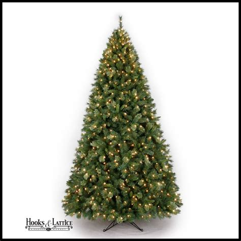 9 ft spruce pre lit christmas tree hooks and lattice