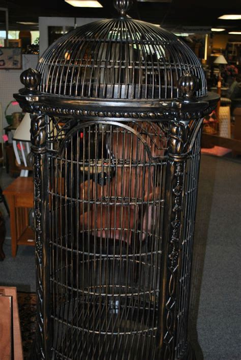 decorative large metal bird cage