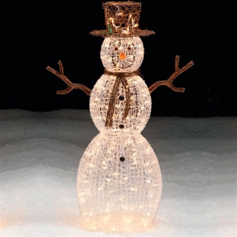 outdoor light up snowman trim a home 174 50 lighted snowman outdoor