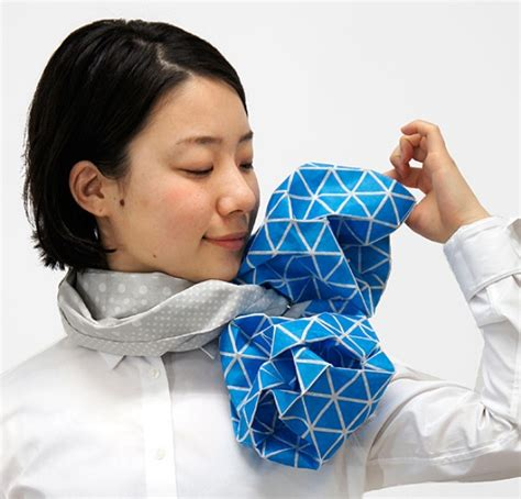 Special Origami - origami scarves let you fold your own neckwear for the day