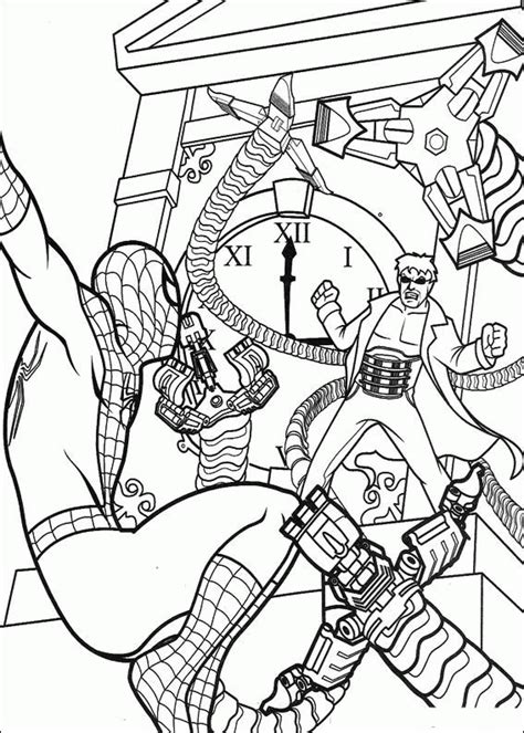 Coloring Page Spiderman Coloring Pages 17 Coloring Book Spiderman2