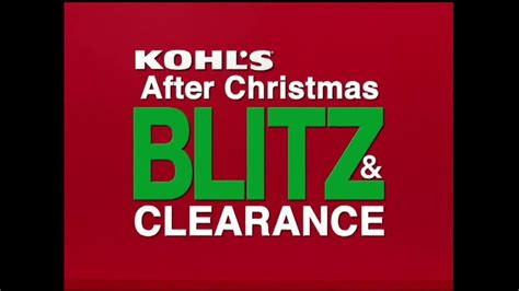 kohl s tv commercial after christmas blitz clearance