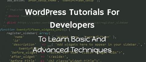 Wordpress Tutorial For Developers   40 wordpress tutorial for developers to learn advanced