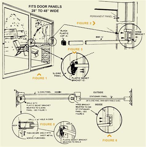 Sliding Glass Door Installation How To Install The 80 006 Sliding Glass Door Security Bar Swisco