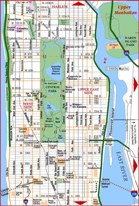 manhattan city map map of manhattan new york city maps