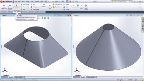 lofted sheet metal solidworks solidworks lofted bend tutorial solidworks sheet metal