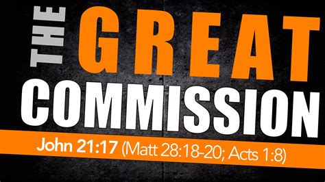 The Great what is the great commission stand strong ministries