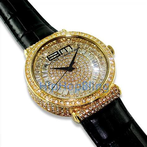totally iced out gold blingmaster hip hop