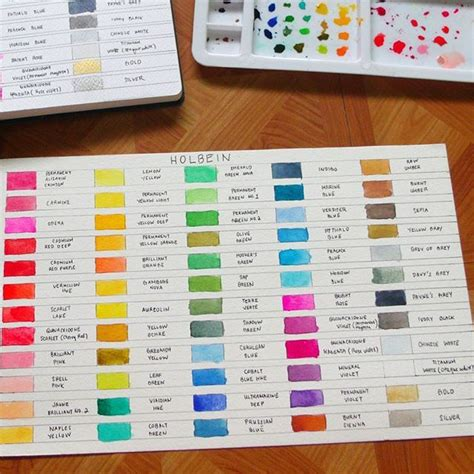 holbein watercolor swatches 51 best images about painting color charts on pinterest