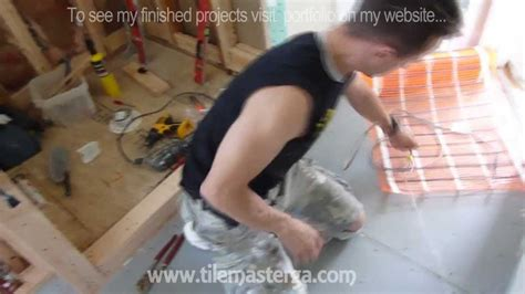 installing heated floor in bathroom radiant heated bathroom floor installation how to do it