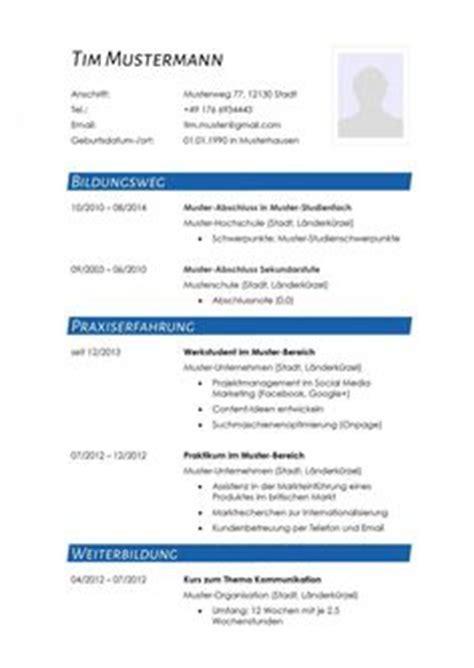 Lebenslauf Aufbau Schriftgroße Moderne Lebenslauf Vorlage In Blau Mit Zweispaltigem Aufbau Zum Kostenlosen
