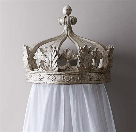 bed crowns heirloom white demilune metal canopy bed crown