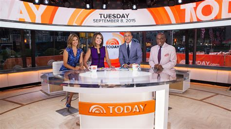today show set check out today s spruced up new look in studio 1a