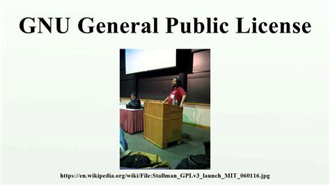 gnu general public license gnu general public license youtube