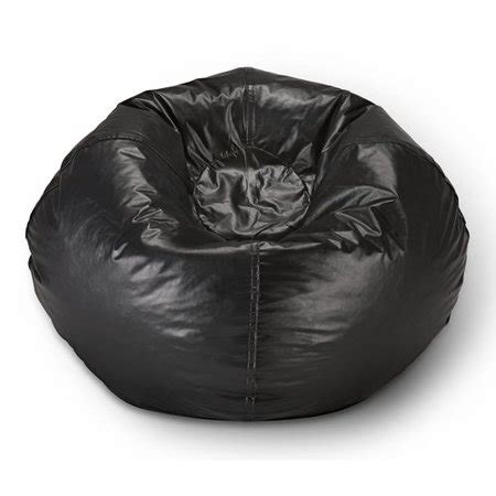 vinyl bean bag black walmartcom