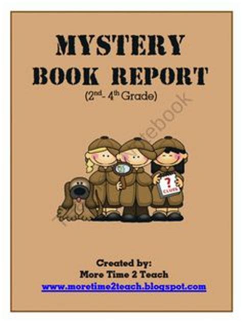 mystery book report projects book report ideas on mystery books book