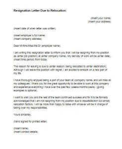 Resignation Letter Due To Moving Overseas Sle Of Resignation Letter With A Reason To Work Abroad Docoments Ojazlink