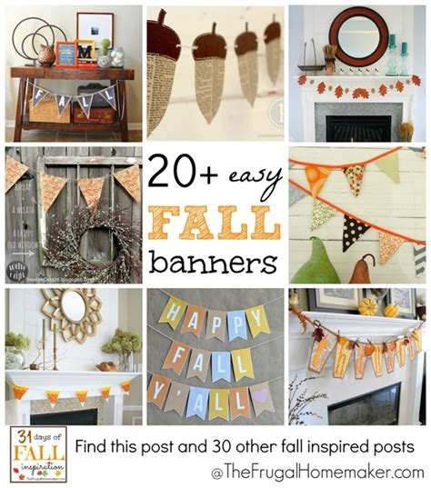 31 days of fall inspiration 20 easy fall banners