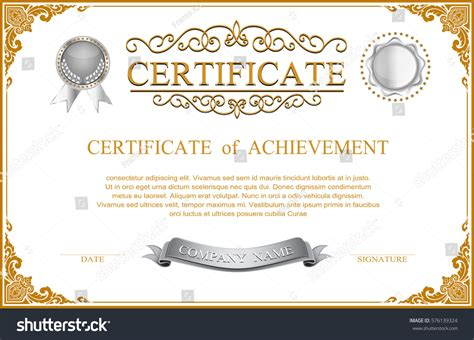 a4 size certificate templates certificate template design border sealing stock
