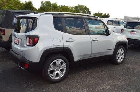 jeep renegade silver j08922 jeep renegade limited silver suv 2 4l i4 16v