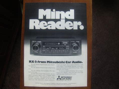 mitsubishi car audio mitsubishi car audio magazine advertisement quot mind reader quot